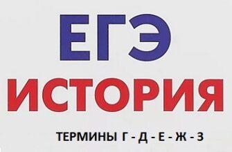 Термины по истории ЕГЭ 2021 (Г,Д,Е,Ж,З)