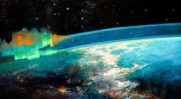 Кто из художников-космонавтов написал эту картину?