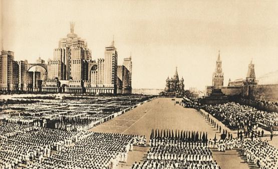 Какой композиционный центр предлагал генеральный план развития Москвы 1935 года